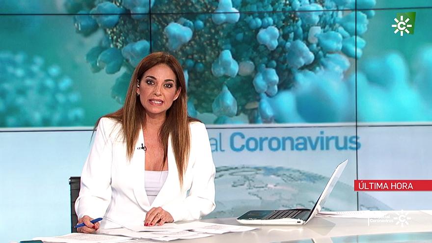 Mariló Montero en los informativos de Canal Sur