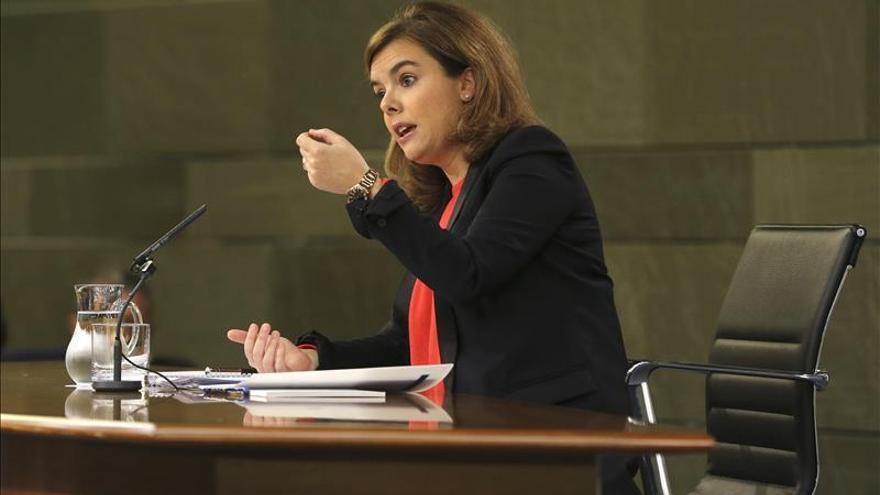 Sáenz de Santamaría sobre la infanta dice que el Gobierno respeta las decisiones judiciales
