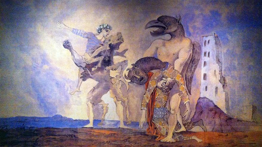 Los despojos del minotauro vestido de arlequín de Pablo Picasso.