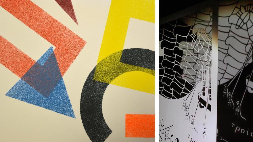 Muestra de ambas exposiciones del espacio