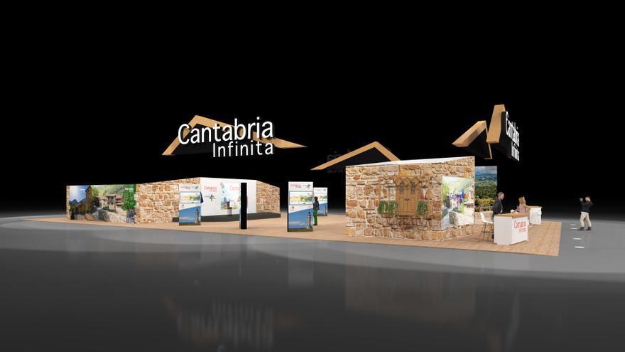 Infografía del stand de Cantabria en FITUR