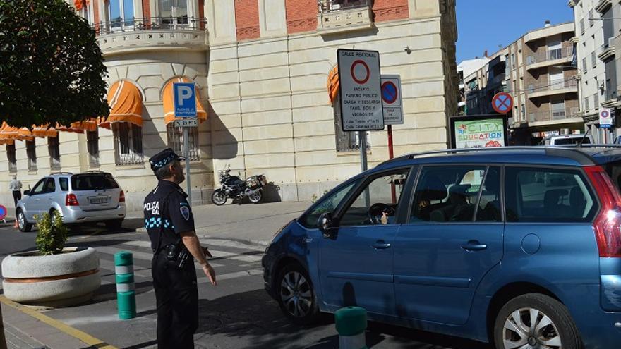 Un policía en el centro de Ciudad Real