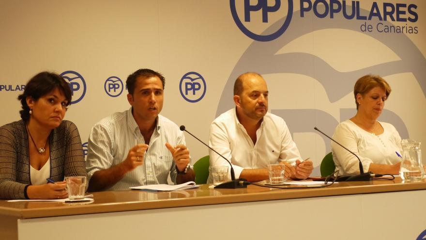 Jimena Delgado-Taramona, Ángel Sabroso, Juan José Cardona y María del Carmen Guerra