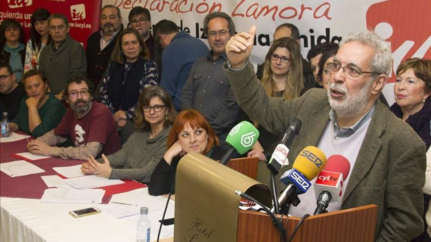 José Antonio García Rubio durante la presentación de la Declaración de Zamora.