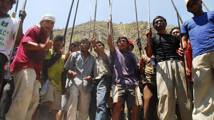 Imágenes de los incidentes ocurridos en Bagua hace cinco años en 2009/ Foto: Coordinadora Nacional de Derechos Humanos.