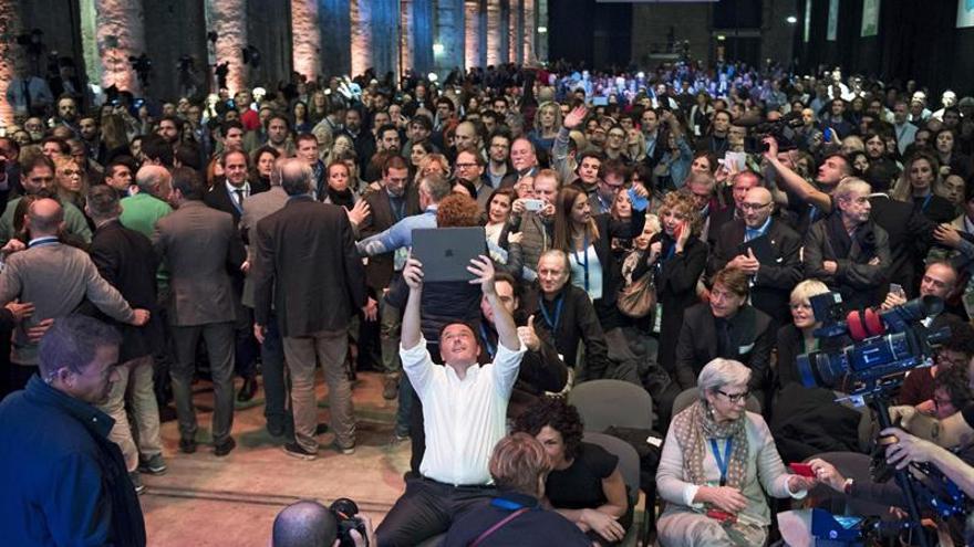 Choques entre policía y manifestantes por una protesta contra Renzi en Florencia