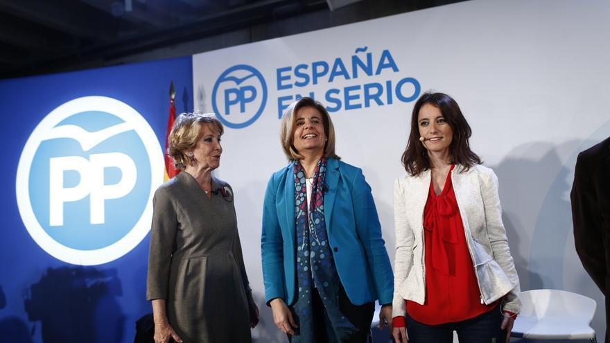 Aguirre alaba la creación de empleo del PP mientras que los demás están en otras cosas como placas para el 15M