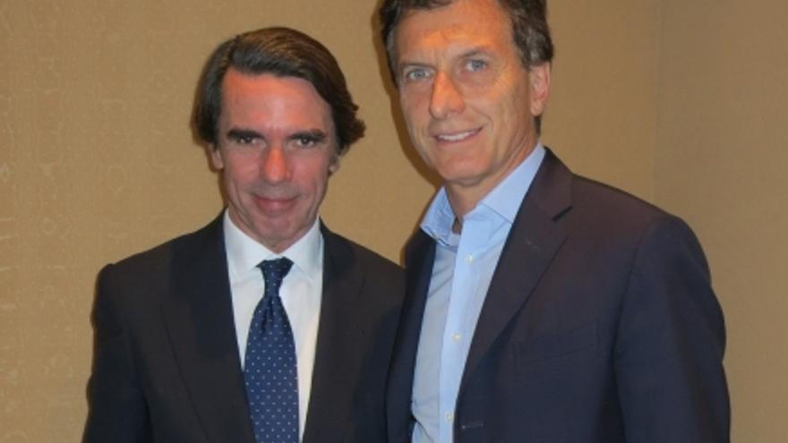 José María Aznar y Mauricio Macri en el Campus FAES 2014 en Buenos Aires. / FAES