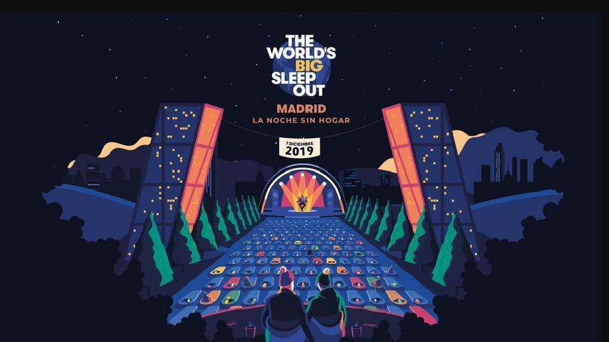 Cartel promocional de la iniciativa 'The World's Big Sleep Out' en España