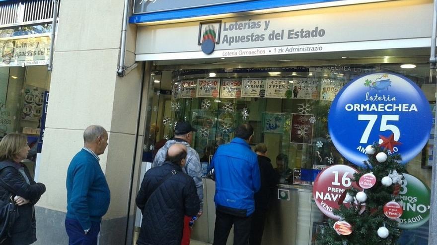 Los vascos gastarán este año una media de 74,95 euros en el sorteo de la Lotería de Navidad