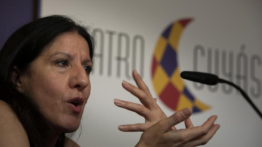 María Pagés durante la presentación del espectáculo 'Óyeme con los ojos´en el Teatro Cuyás. Quique Curbelo