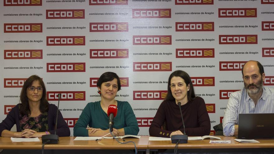 CCOO ha elaborado un informe sobre la situación de la mujer en la plantilla de la Diputación General de Aragón