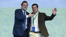 Mariano Rajoy ha respaldado a Juan Manuel Moreno, su elegido.