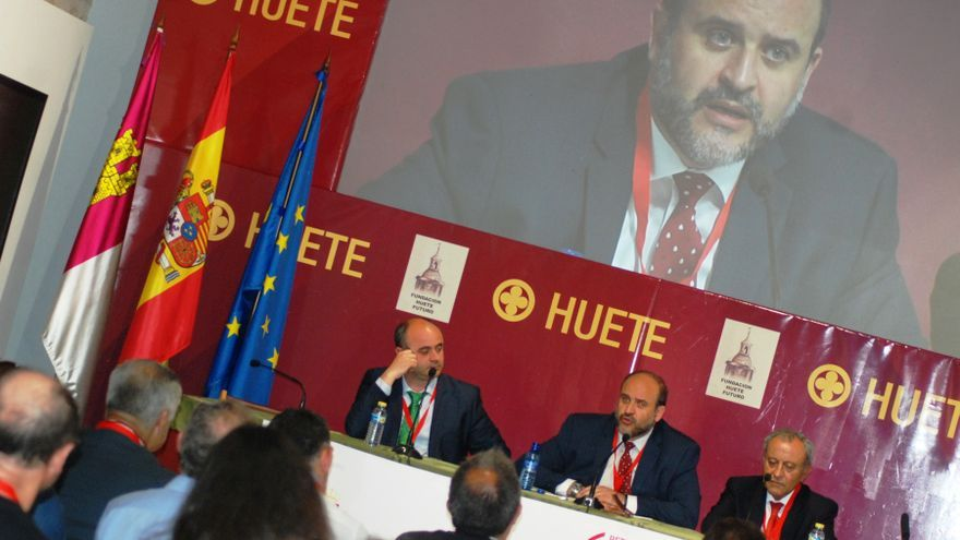 El vicepresidente de Castilla-La Mancha en Huete (Cuenca)