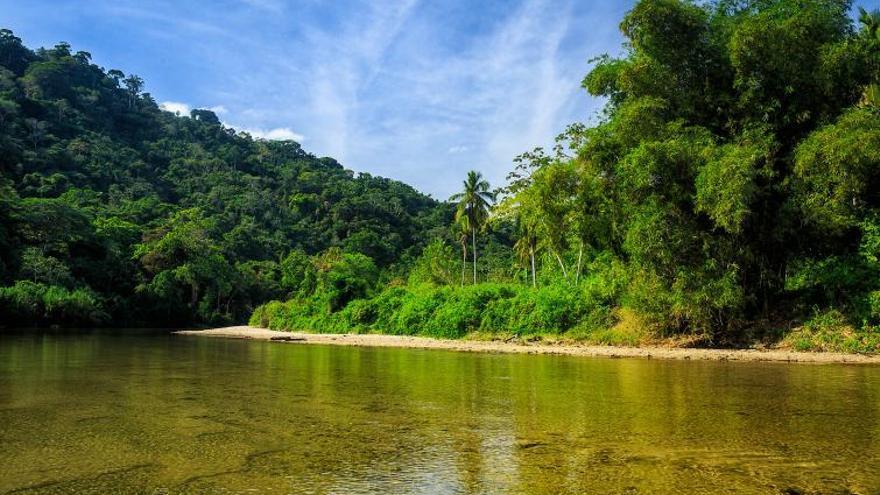 Aguas limpias del Río Palomino, a escasos kilómetros de la playa.