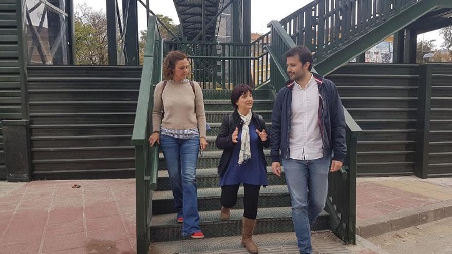 Los candidatos al Congreso de Unidas Podemos por Murcia, Esther Herguedas y Javier Sánchez Serna