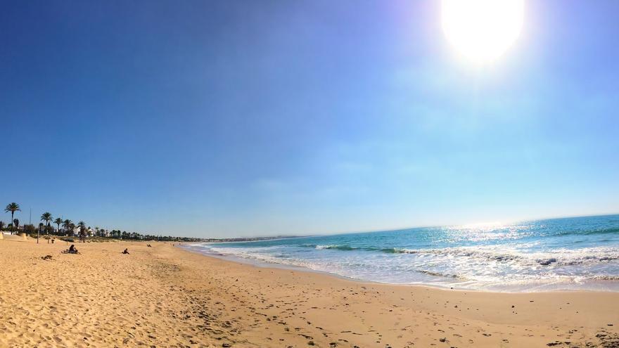 Playa de la Barrosa en Chiclana (Cádiz, Andalucía)