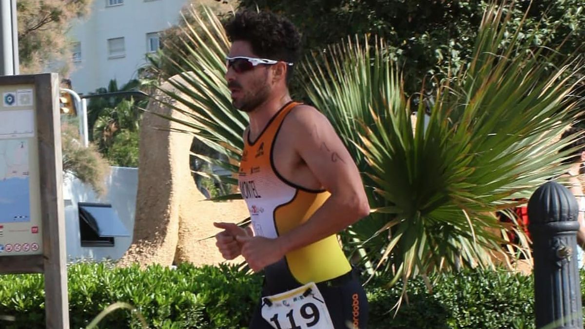 Francisco Montiel en una competición