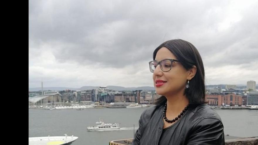 Sabah Yacoubi, presidenta de la Asociación de Trabajadores Inmigrantes Marroquíes (ATIM)