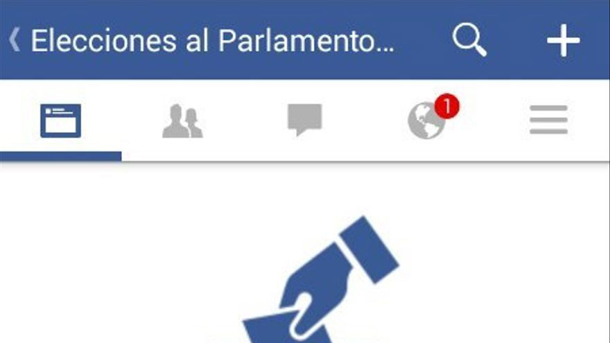Facebook anima a compartir con tus contactos que has votado
