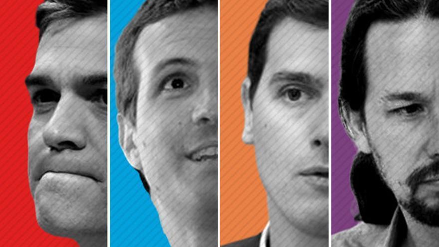 Los cuatro candidatos principales