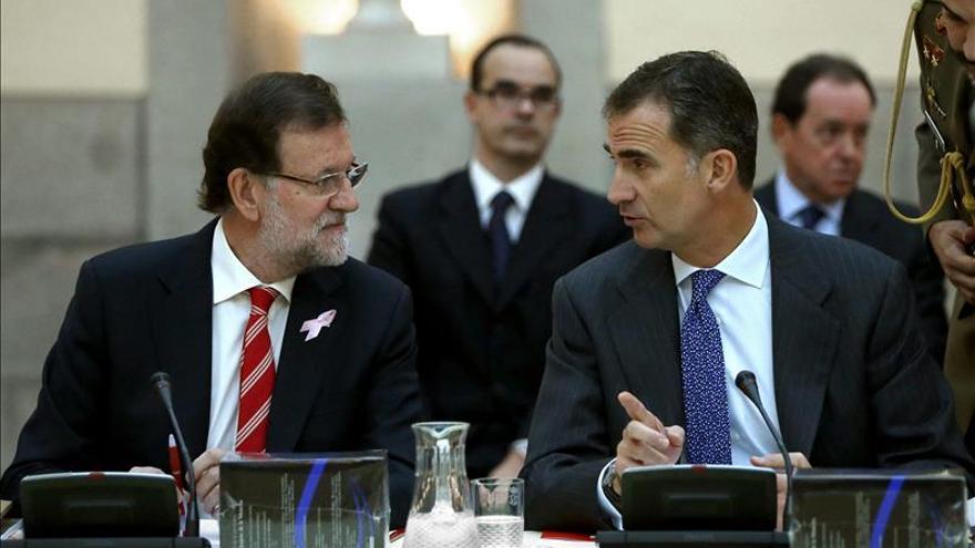 El Rey recibe esta tarde a Rajoy en un despacho semanal centrado en Cataluña