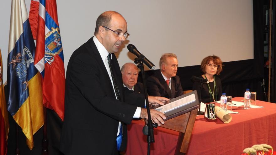 Un momento de la intervención de Manuel Poggio Capote.