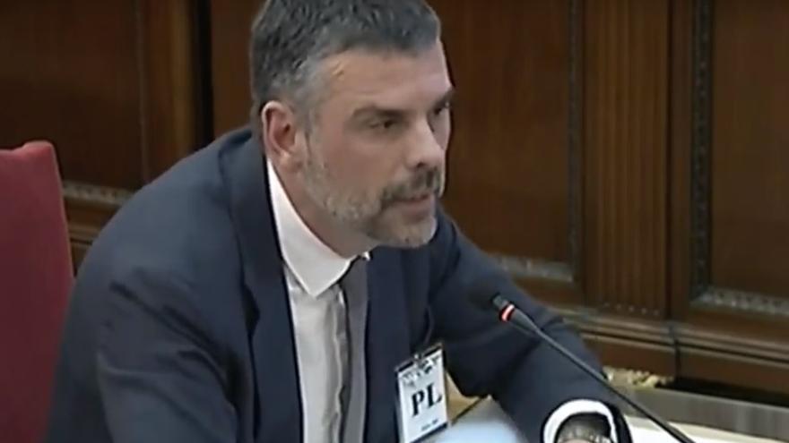 Santi Vila, durante su declaración en el Tribunal Supremo