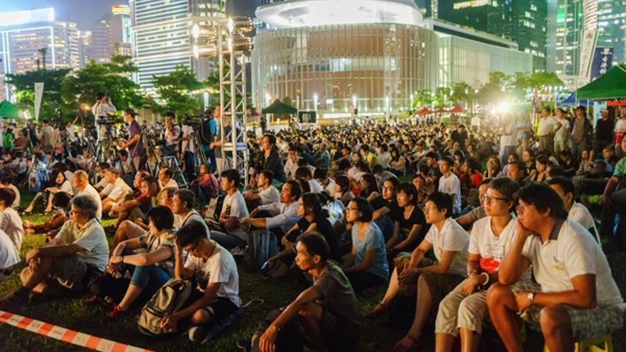Fotografía tomada durante las protestas por la democracia en Hong Kong, en septiembre de 2014 © Leung Ching Yau Alex