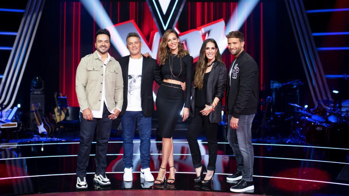 Los coaches y presentadora de 'La Voz'