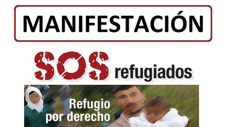 Lunes 20 de junio a las 20 horas, manifestación #SOSrefugiados desde la Plaza Circular