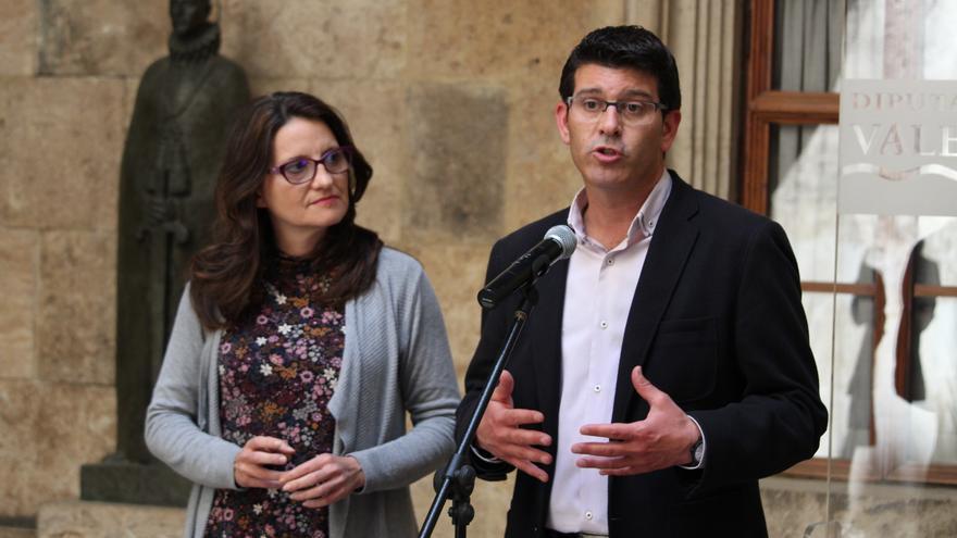 Mónica Oltra y Jorge Rodríguez