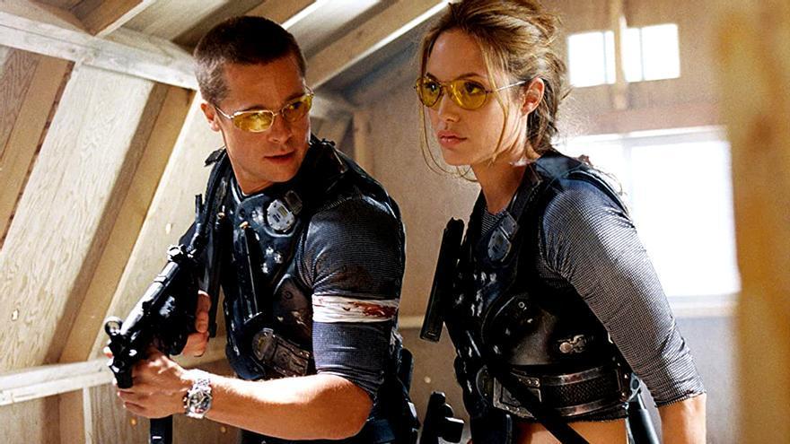 Brad Pitt y Angelina Jolie en 'Señor y Señora Smith'