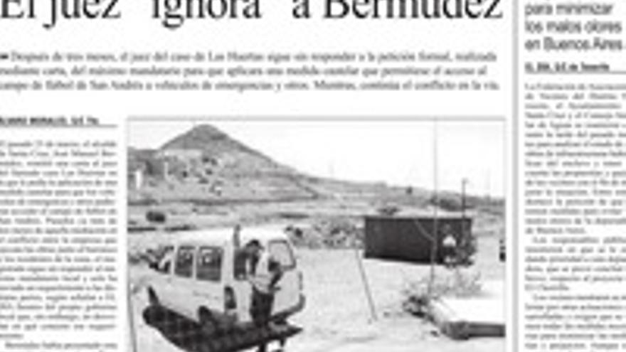 Página del periódico 'El Día'.
