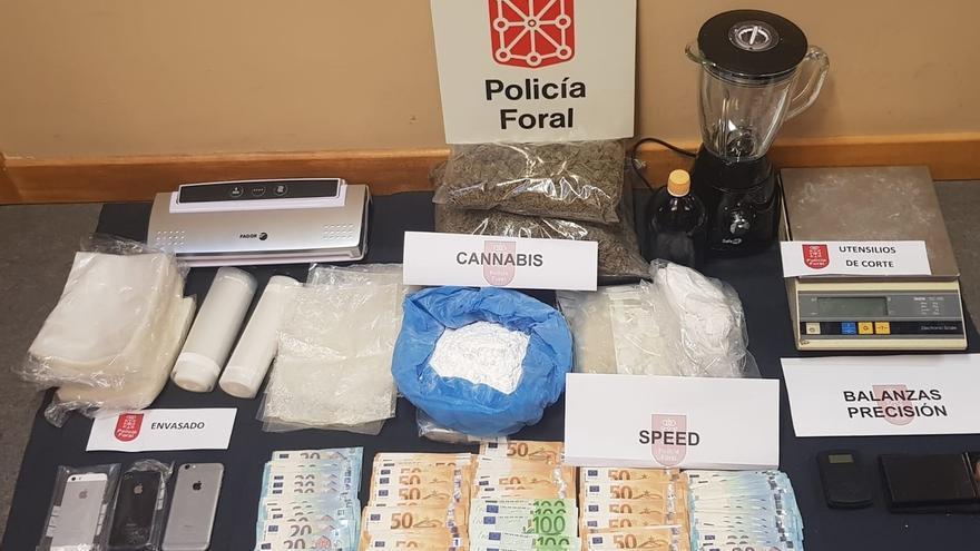 La Policía Foral desarticula un punto de venta de sustancias estupefacientes en Tudela