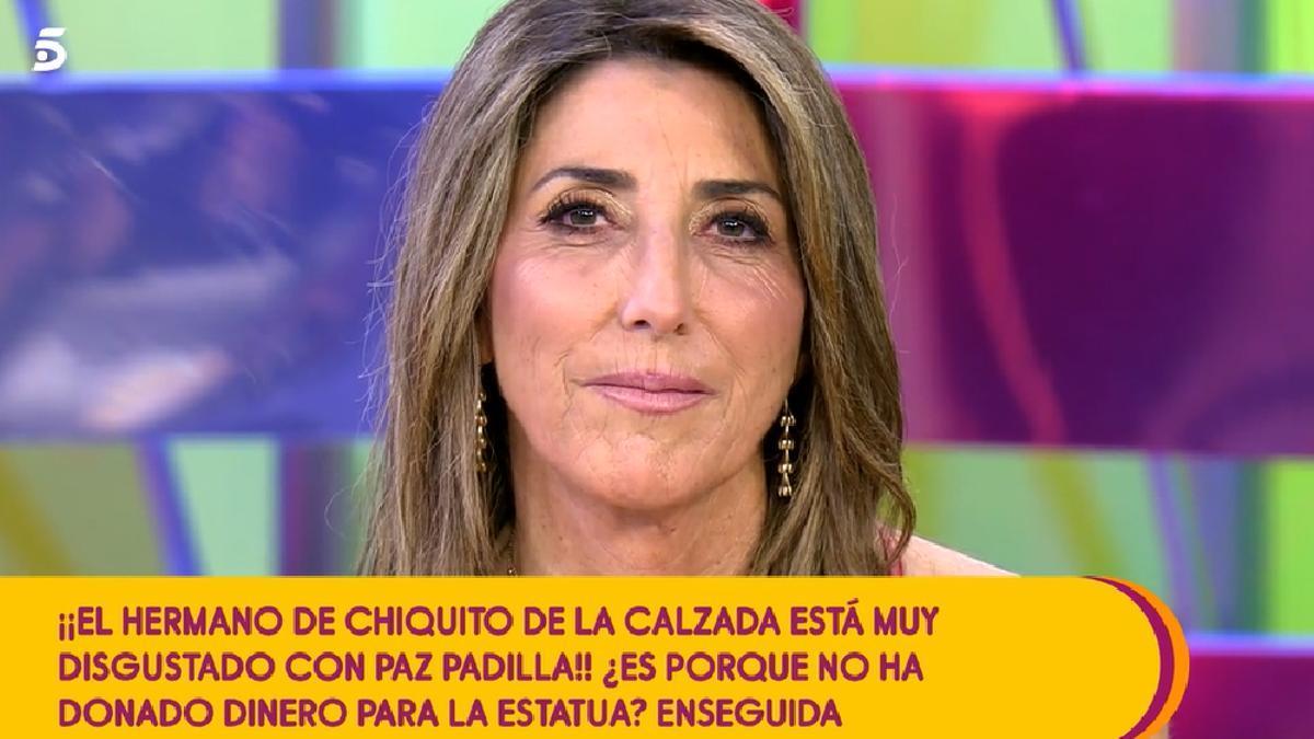 Paz Padilla, acusada de no colaborar en la estatua de Chiquito en 'Sálvame'