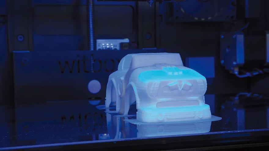 Las impresoras fabrican el armazón de los juguetes superponiendo capas de plástico