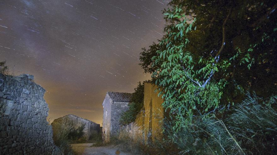 Una de las obras de la exposición 'Pueblos abandonados' / Foto: Carlos Ciaurriz.