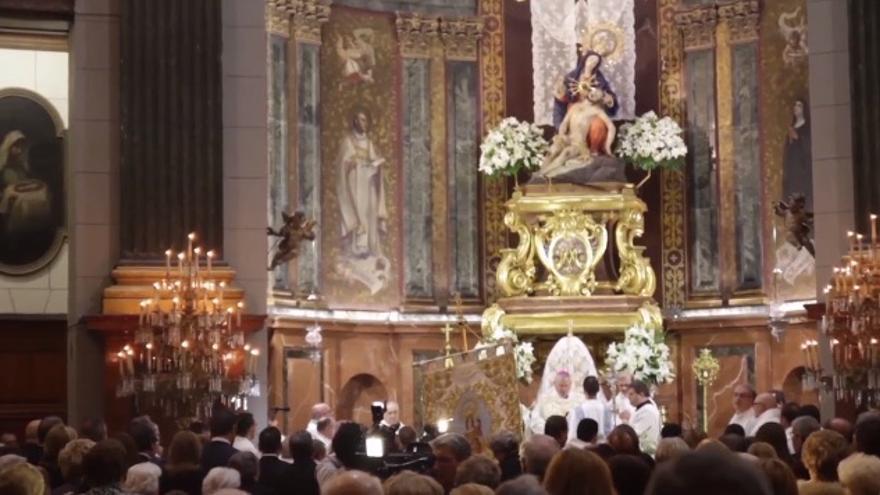 """Misa de """"desagravio a la Virgen"""" en Cartagena"""