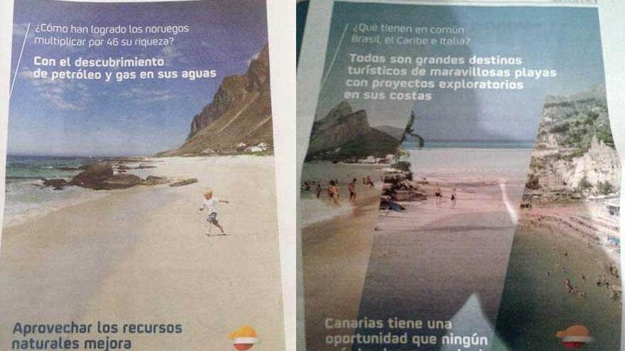 Anuncios de Repsol en la prensa canaria sobre las prospecciones petrolíferas en aguas del Archipiélago (ECOLOGISTAS EN ACCIÓN)