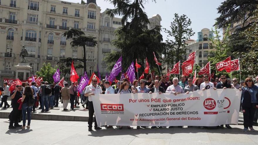 CCOO y UGT exigen ante el Congreso más empleo y salarios justos