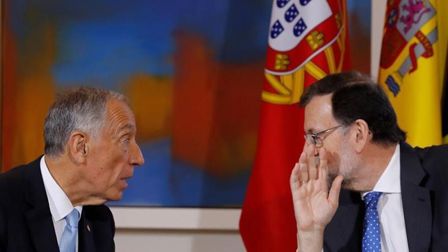 Rajoy se reúne con Marcelo Rebelo de Sousa en Moncloa