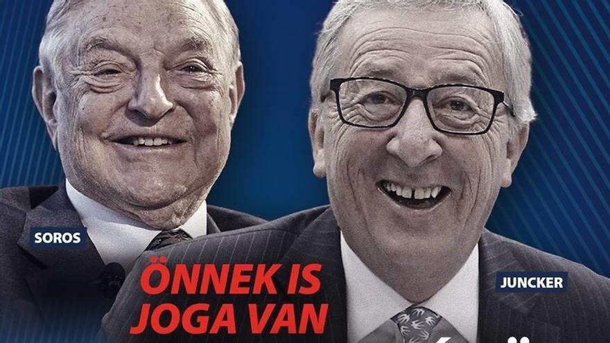 Campaña del Gobierno de Víktor Orban contra Jean-Claude Juncker.