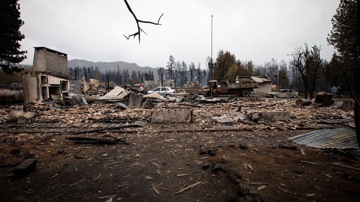 La destrucción por los incendios en Chubut