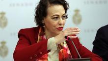La ministra de Trabajo, Magdalena Valerio, en el Senado.