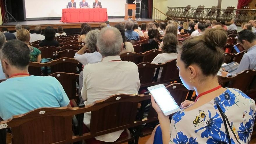 En la imagen, acto de inauguración del foro '100xCiencia' celebrado en la mañana de este miércoles en el Teatro Circo de Marte.