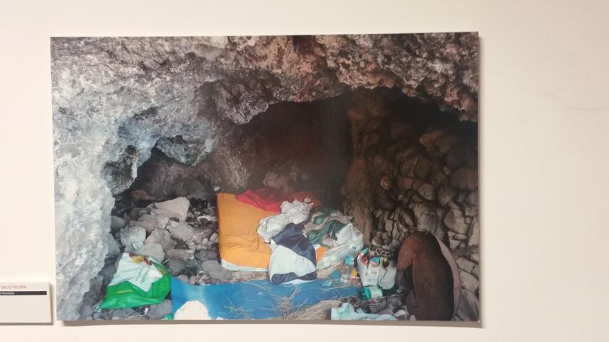 Una de las imágenes de la exposición tomada en La Palma.