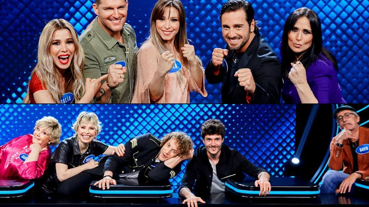 Arriba, el equipo 'OT1'; abajo, el equipo Eurovisión