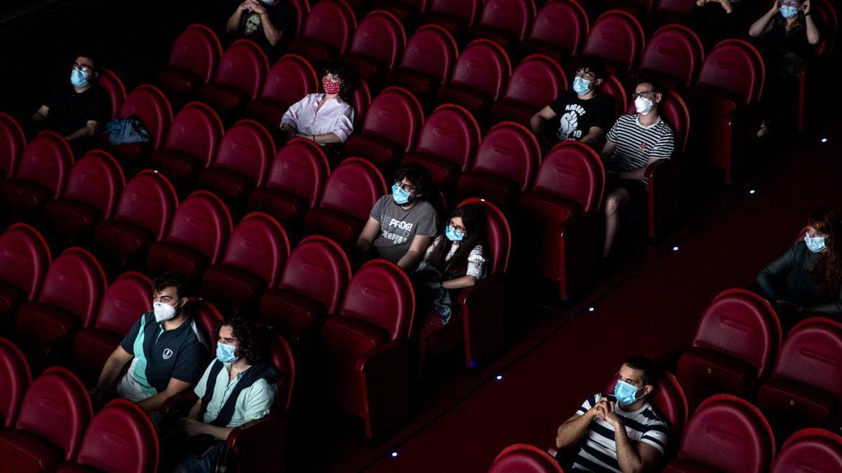 Los cines Doré en junio de 2020. Foto: GTRES.