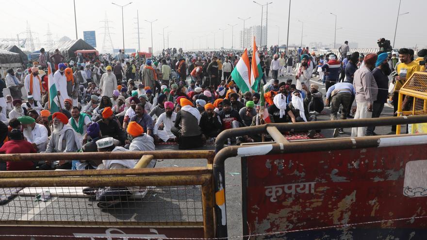 Las protestas contra la apertura de la agricultura india cumplen una semana